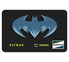 Bat-Credit Card Photographic Print