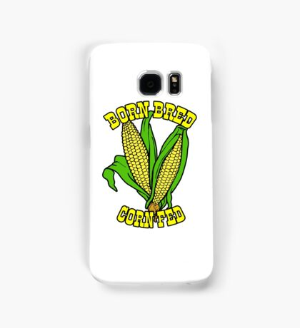 BORN BRED CORN FED (yellow) Samsung Galaxy Case/Skin