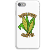 BORN BRED CORN FED (brown) iPhone Case/Skin