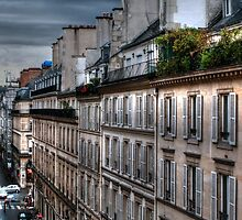Autumn Rain Paris Feance by Tom Prendergast