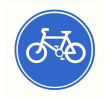 Bicycle Symbol Art Print
