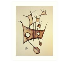 MASTS SERIES. No. 9 Art Print