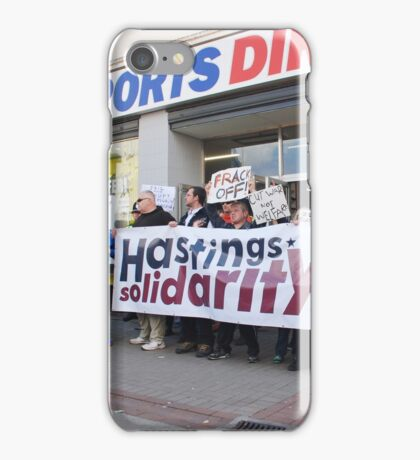 Sports Direct protest, Hastings iPhone Case/Skin