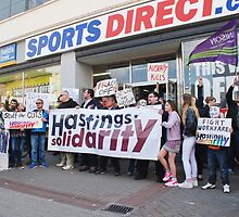 Sports Direct protest, Hastings by David Fowler