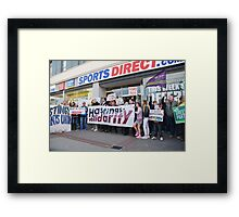 Sports Direct protest, Hastings Framed Print
