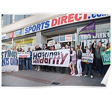 Sports Direct protest, Hastings Poster