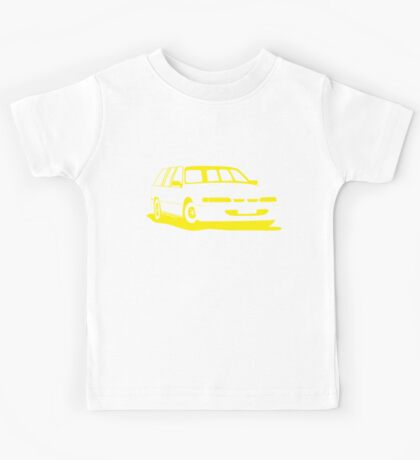 VS Commodore Wagon - Yellow Kids Tee