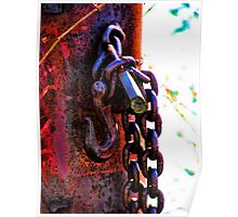 Restrained Rusted Restraint Poster