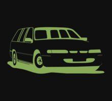 VS Commodore Wagon - Green One Piece - Short Sleeve