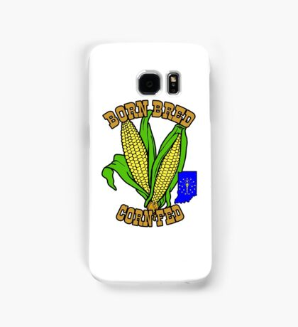BORN BRED CORN FED INDIANA (brown) Samsung Galaxy Case/Skin