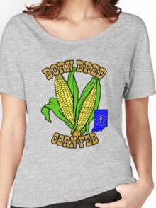 BORN BRED CORN FED INDIANA (brown) Women's Relaxed Fit T-Shirt
