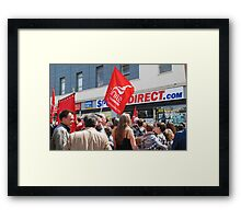 Zero Hour contracts protest, Hastings Framed Print