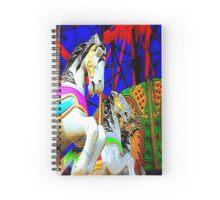 Carousel Horsey Racing Spiral Notebook