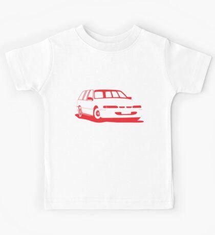 VS Commodore Wagon - Red Kids Tee