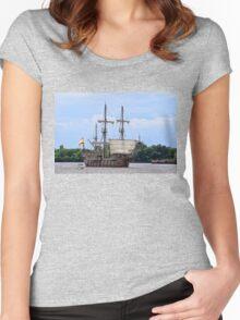 Yo Ho Me Hearties Yo Ho Women's Fitted Scoop T-Shirt
