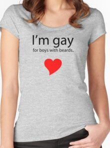 Gay 4 Beards Women's Fitted Scoop T-Shirt