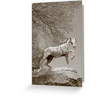 Waterbury Icons - Horse Fountain Greeting Card