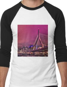 Zakim bridge, Boston MA Men's Baseball ¾ T-Shirt