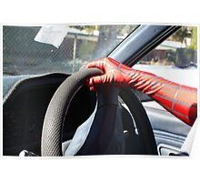 who said spider man cant drive Poster