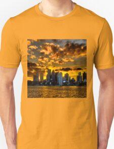 Sunset over Boston Harbor Unisex T-Shirt