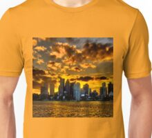 Sunset over Boston Harbor T-Shirt