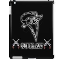 Outlaw with Skull and Guns iPad Case/Skin