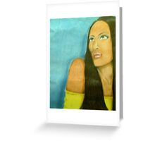 Black Mona Lisa Greeting Card