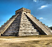 Chichen Itza-El Castillo pyramid(Mexico)- featured in Mexico group,top 5 winner in Cityscapes and City Skylines  challenge. by tom brown