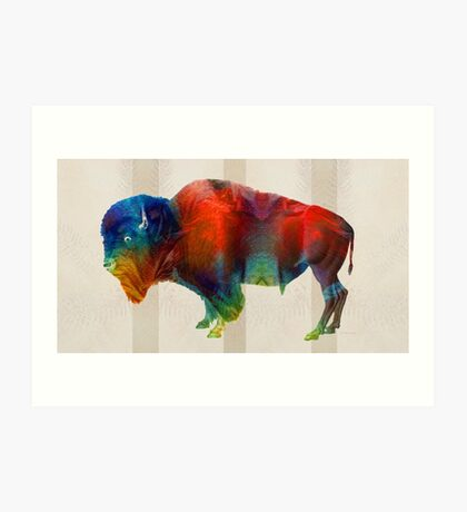 Buffalo Animal Print - Wild Bill - By Sharon Cummings Art Print