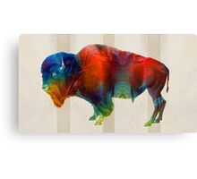 Buffalo Animal Print - Wild Bill - By Sharon Cummings Canvas Print