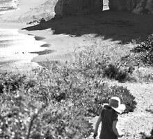 Wild beach walk by John Violet
