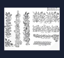 New Sample Book of Our Artistic Perforated Parchment Stamping Patterns Kate Greenaway, John Frederick Ingalls 1886 0064 One Piece - Short Sleeve