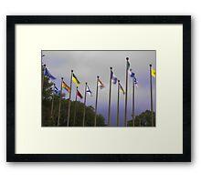 provincial waving Framed Print