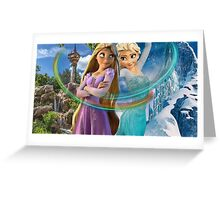 Elsa & Rapunzel Greeting Card