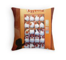 EggVend (20 Hens in a Vending Machine) Throw Pillow