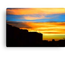 Sunset in downtown Denver Canvas Print