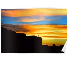 Sunset in downtown Denver Poster