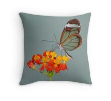 A Delicate Encounter............ Throw Pillow