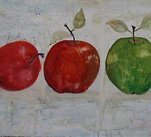 Three Apples by Christine Clarke