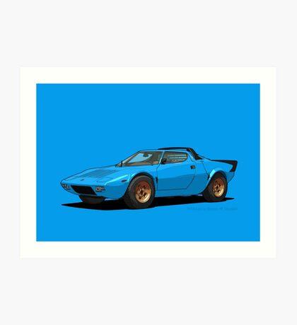 Lancia Stratos HF Stradale Blu (Light Blue) Art Print
