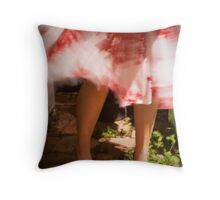 Red shoes, red dress Throw Pillow