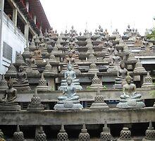 Tower of Buddhas Sri Lanka by Camille Jackson