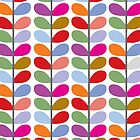 Colorful Leaf Pattern by Ricaso