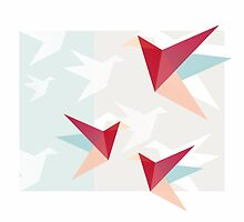 Correct Paper Cranes  by XOOXOO