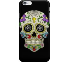 Sugar Skull Tattoo (Day of the Dead) - Full Colour iPhone Case/Skin