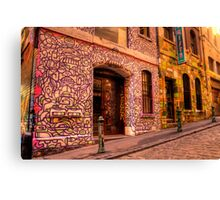 Graffiti in Hosier Lane, Melbourne Canvas Print