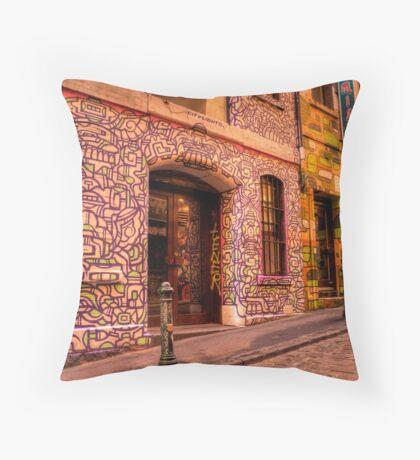 Graffiti in Hosier Lane, Melbourne Throw Pillow
