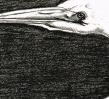 White Egret Art - The Great One - By Sharon Cummings Sticker