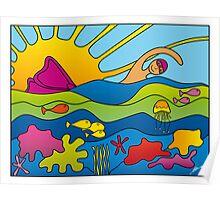 Harbour Swim, Port Vila Poster