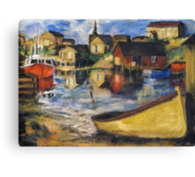 Peggy's Cove Dingy Haul out Canvas Print